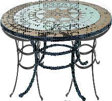 Tavolo Da Esterno Liberty Tondo Cm100 In Acciaio