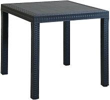 Tavolo Da Giardino Quadrato Fisso In Wicker