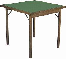 Tavolo Da Gioco Quadrato Pieghevole 80x80 Cm In