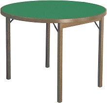 Tavolo Da Gioco Rotondo Pieghevole Ø100 Cm In