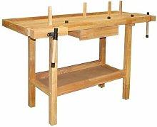 Tavolo da Lavoro In Legno Hobby 140X50X86 Cm -