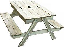 Tavolo da picnic con sabbiera integrata Kid