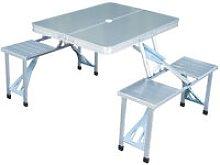 Tavolo da picnic pieghevole in alluminio 4 posti