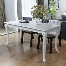 Tavolo da Pranzo 116x66x76 cm Bianco Lucido -