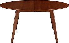 Tavolo da pranzo allungabile design noce L150-200