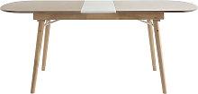 Tavolo da pranzo allungabile in legno chiaro