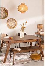 Tavolo da pranzo allungabile in noce (150-180x90