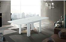 Tavolo da pranzo con apertura a libro, Made in