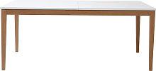 Tavolo da pranzo design allungabile bianco gambe