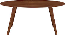Tavolo da pranzo design scandinavo ovale noce L160