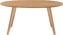 Tavolo da pranzo design scandinavo ovale quercia