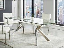 Tavolo da pranzo estensibile 6 a 8 posti in in