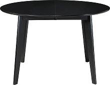 Tavolo da pranzo estensibile rotondo nero L120-150