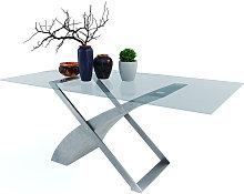 Tavolo da Pranzo Grigio Cemento Morelia Ideale Per