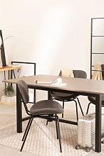 Tavolo da pranzo in legno di quercia (180x90 cm)