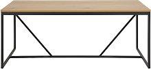 Tavolo da pranzo industriale in metallo e legno