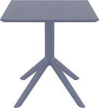 Tavolo da pranzo quadrato design grigio interno /