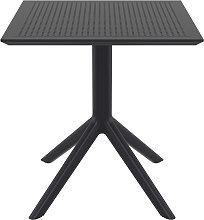 Tavolo da pranzo quadrato design nero interno /