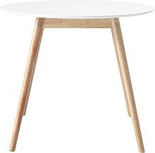 Tavolo da pranzo rotondo bianco 4 persone 90 cm