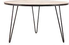 Tavolo da pranzo rotondo industriale in legno