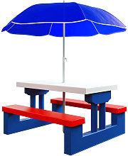 Tavolo e sedie da giardino per bambini con