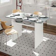 Tavolo estensibile con apertura a libro, grigio,