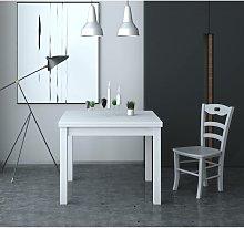 Tavolo Firenze 90x90 cm allungabile Bianco