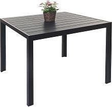 Tavolo giardino terrazza HWC-F90 polyrattan WPC