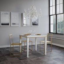 Tavolo Impero Libra allungabile quadrato legno