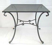 Tavolo in ferro battuto quadrato 90x90h76 tavoli