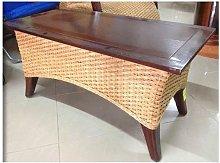 Tavolo in legno e vimini EQUATOR ideale per