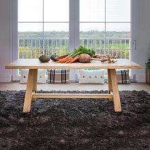 Tavolo moderno a cavalletto piano con bordo