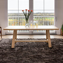 Tavolo moderno in legno a cavalletto