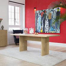Tavolo moderno in legno piano con bordo dritto