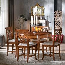 Tavolo ovalino con intarsio Venezia 115/203x95