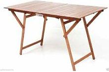 Tavolo pic nic rettangolare pieghevole colore noce