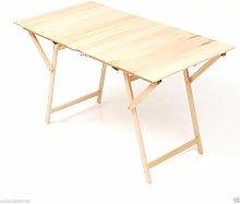 Tavolo pic nic rettangolare pieghevole in legno