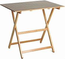 Tavolo pieghevole in legno naturale 60 x 80 x 73 cm