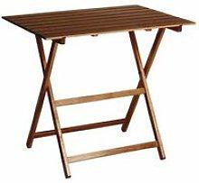 Tavolo pieghevole in legno noce 60 x 80 x 73 cm
