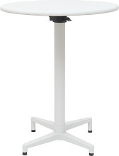 Tavolo pieghevole rotondo in metallo bianco D60