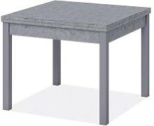 Tavolo pranzo grigio cemento apribile libro in