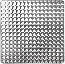 tavolo quadrato impilabile in acciaio e alluminio