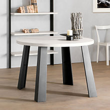 Tavolo rotondo con gambe metallo piano con bordo