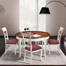 Tavolo rotondo con intarsio Venezia 140/260X140