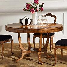Tavolo rotondo da 130 cm con base rigata e piano