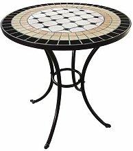 Tavolo Rotondo in Ferro con Mosaico