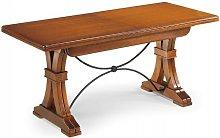Tavolo Sala da Pranzo Classico in Legno Noce Gambe