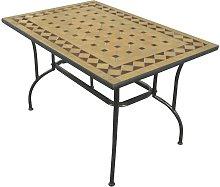 Tavolo stilnovo mosaico in acciaio decorazioni ad