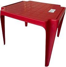 Tavolo Tavolino da gioco per Bambino Colore ROSSO