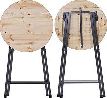 Tavolo tavolino pieghevole HWC-D47 legno di pino